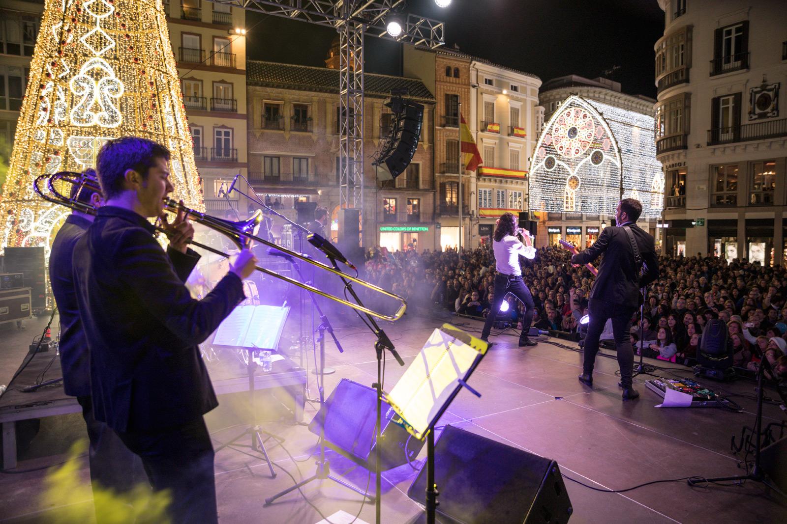 Concierto Encendido Luces de Navidad en Málaga